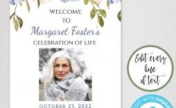 004 Unbelievable Celebration Of Life Template Free Download Design  Invitation