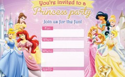 004 Unbelievable Disney Princes Invitation Template Idea  Downloadable Party Free Printable Birthday