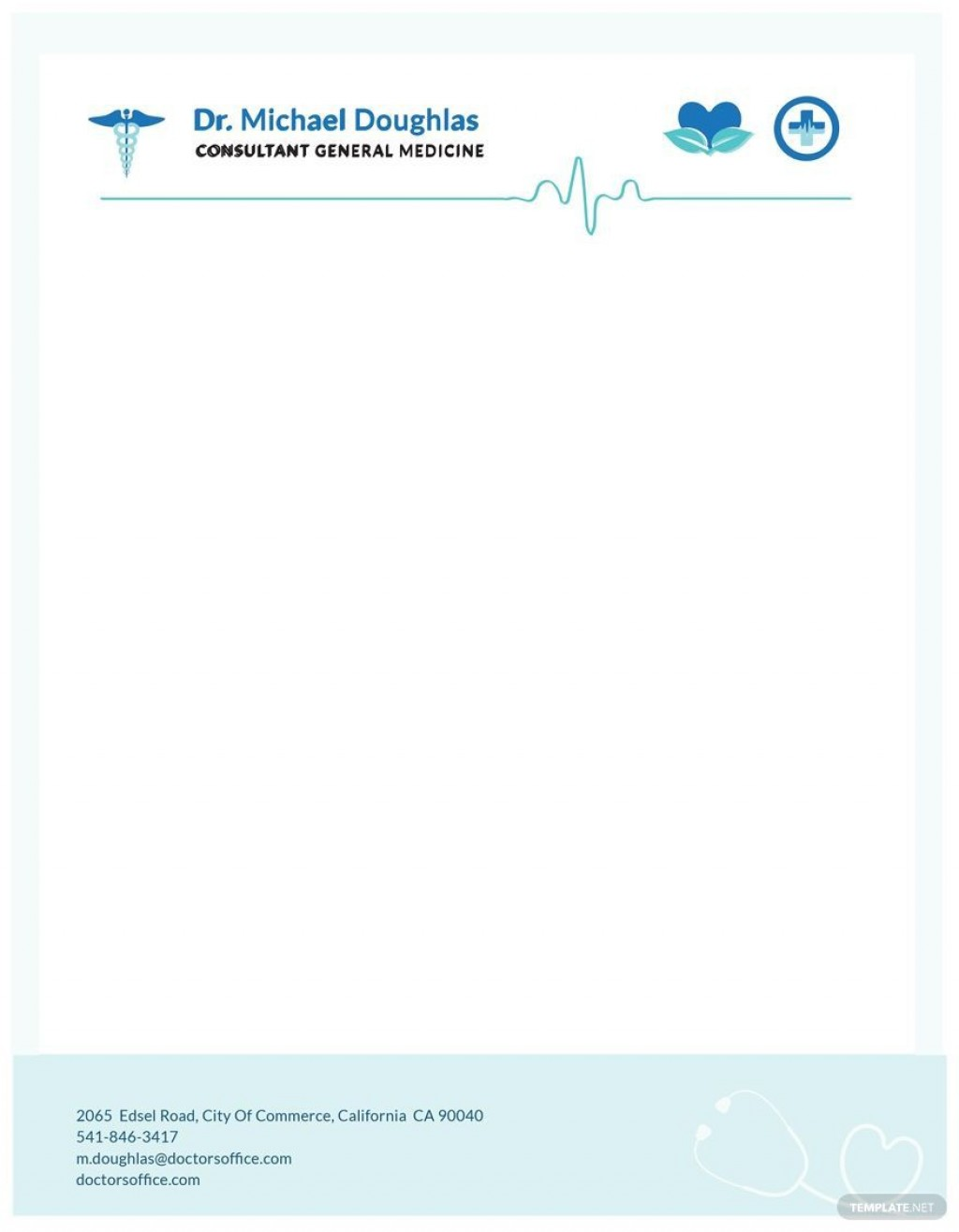 004 Unbelievable Doctor Letterhead Format In Word Free Download Concept  DesignLarge