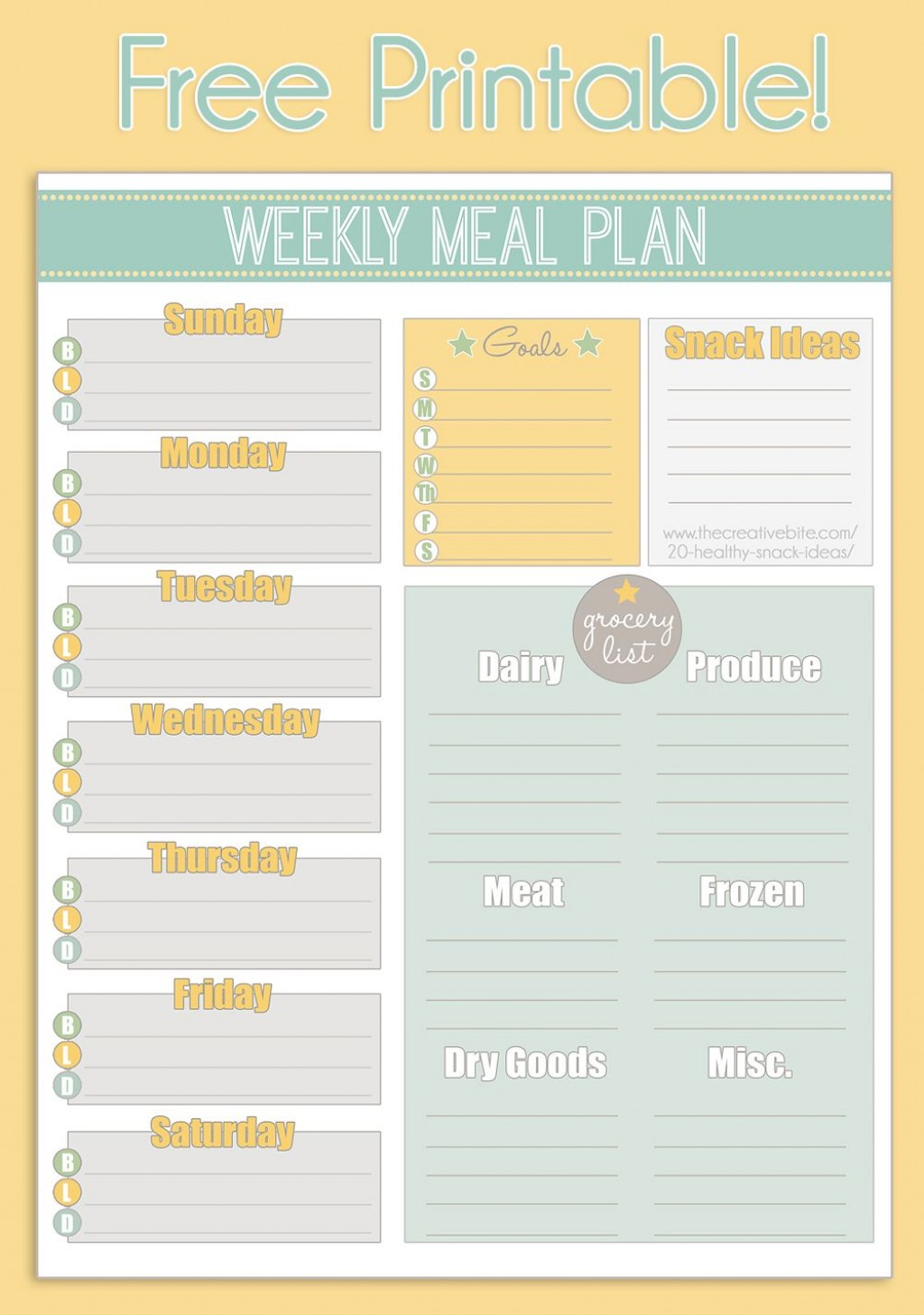 004 Unbelievable Family Meal Planner Template Image  Word MenuLarge