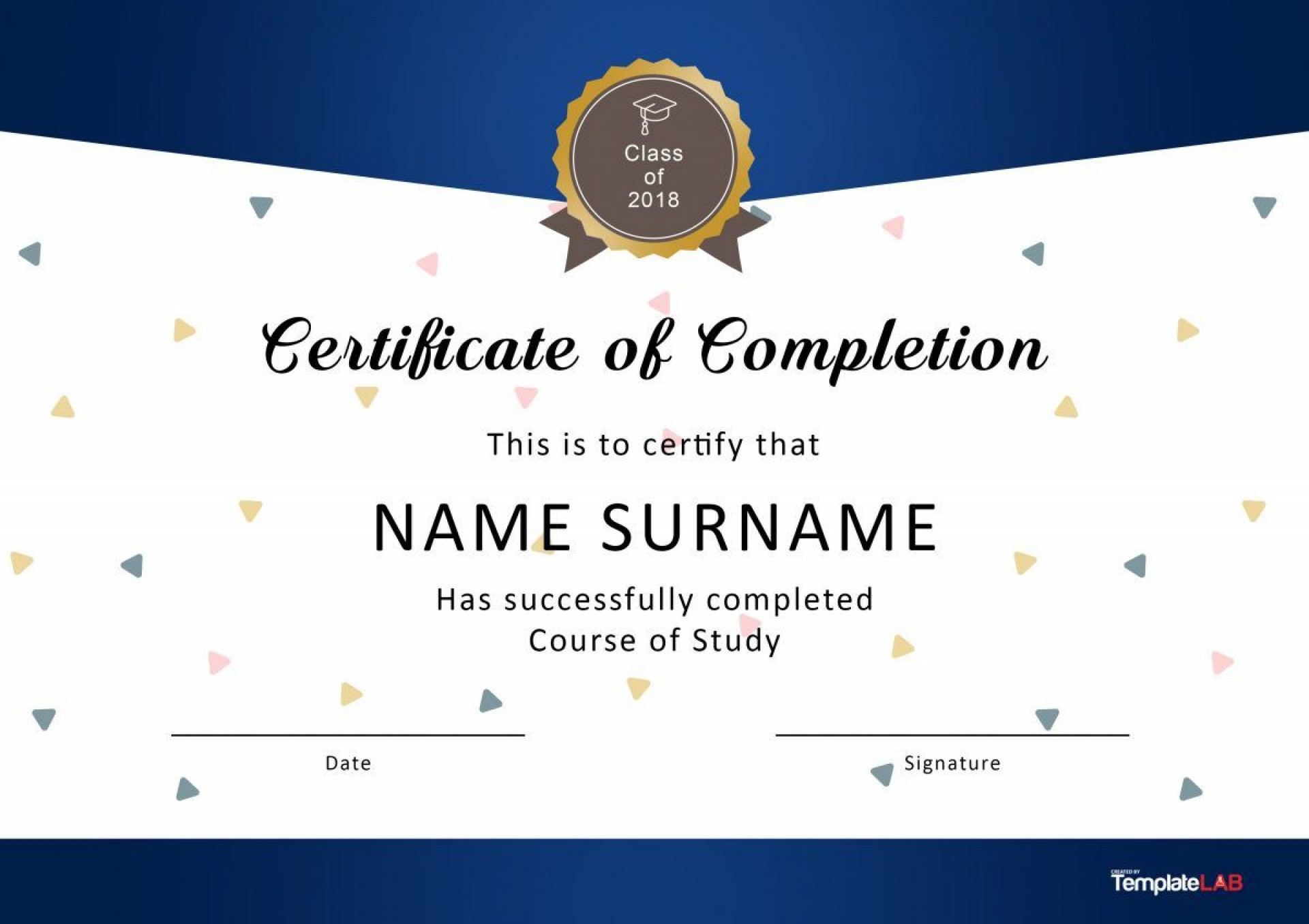 004 Unbelievable Free Certificate Of Completion Template Picture  Blank Printable Download Word Pdf1920