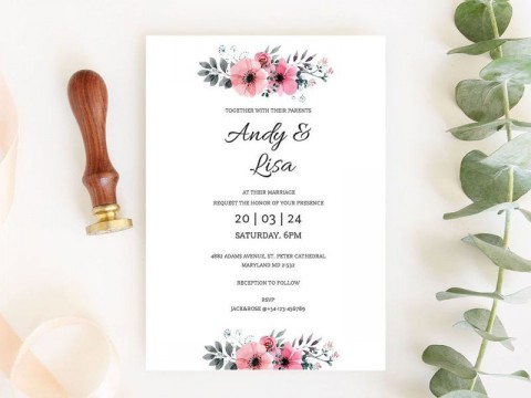 004 Unbelievable Free Download Marriage Invitation Template Example  Card Design Psd After Effect480