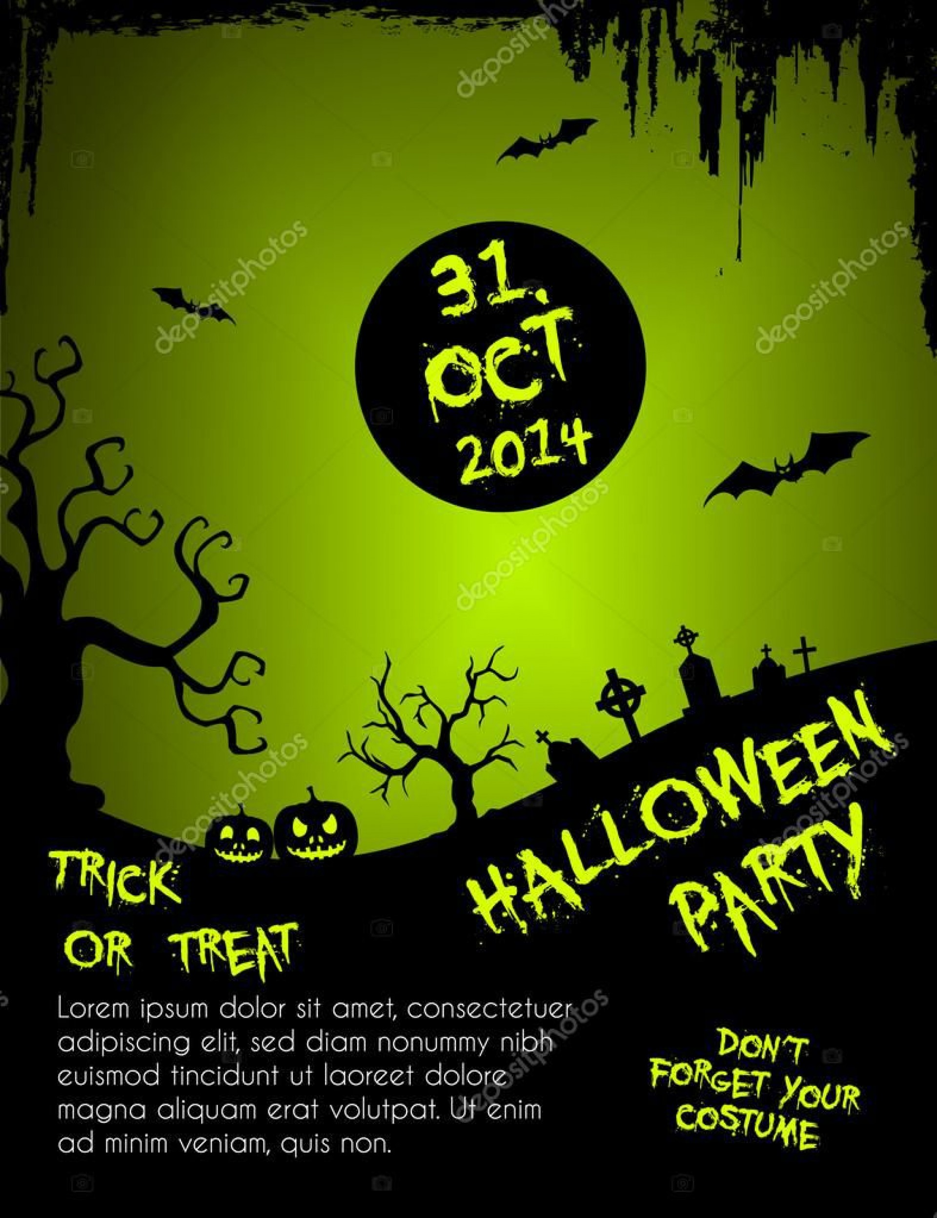 004 Unbelievable Free Halloween Party Flyer Template High Definition  Templates1920