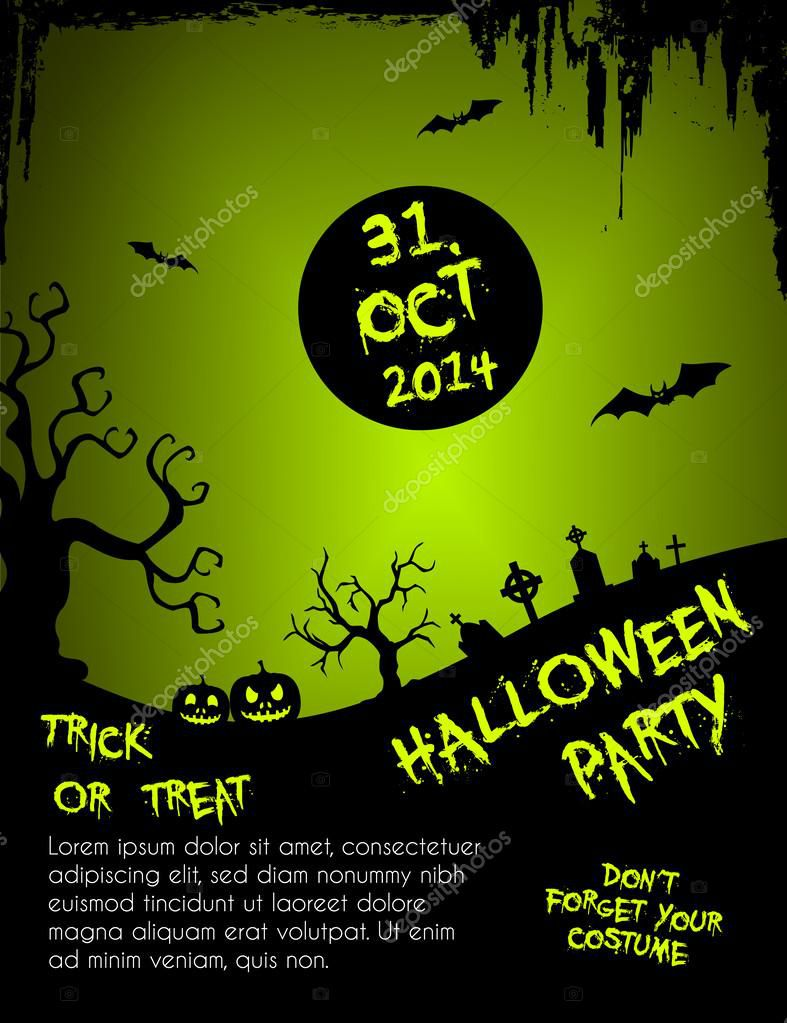 004 Unbelievable Free Halloween Party Flyer Template High Definition  TemplatesFull