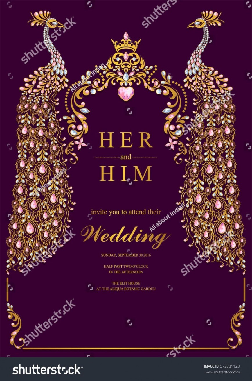 004 Unbelievable Free Online Indian Wedding Invitation Card Template Photo 868