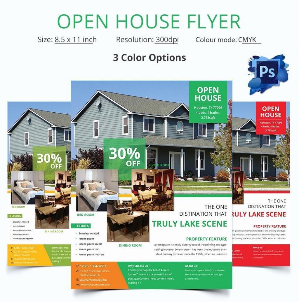 004 Unbelievable Open House Flyer Template Free High Resolution  School Microsoft Word PreschoolLarge