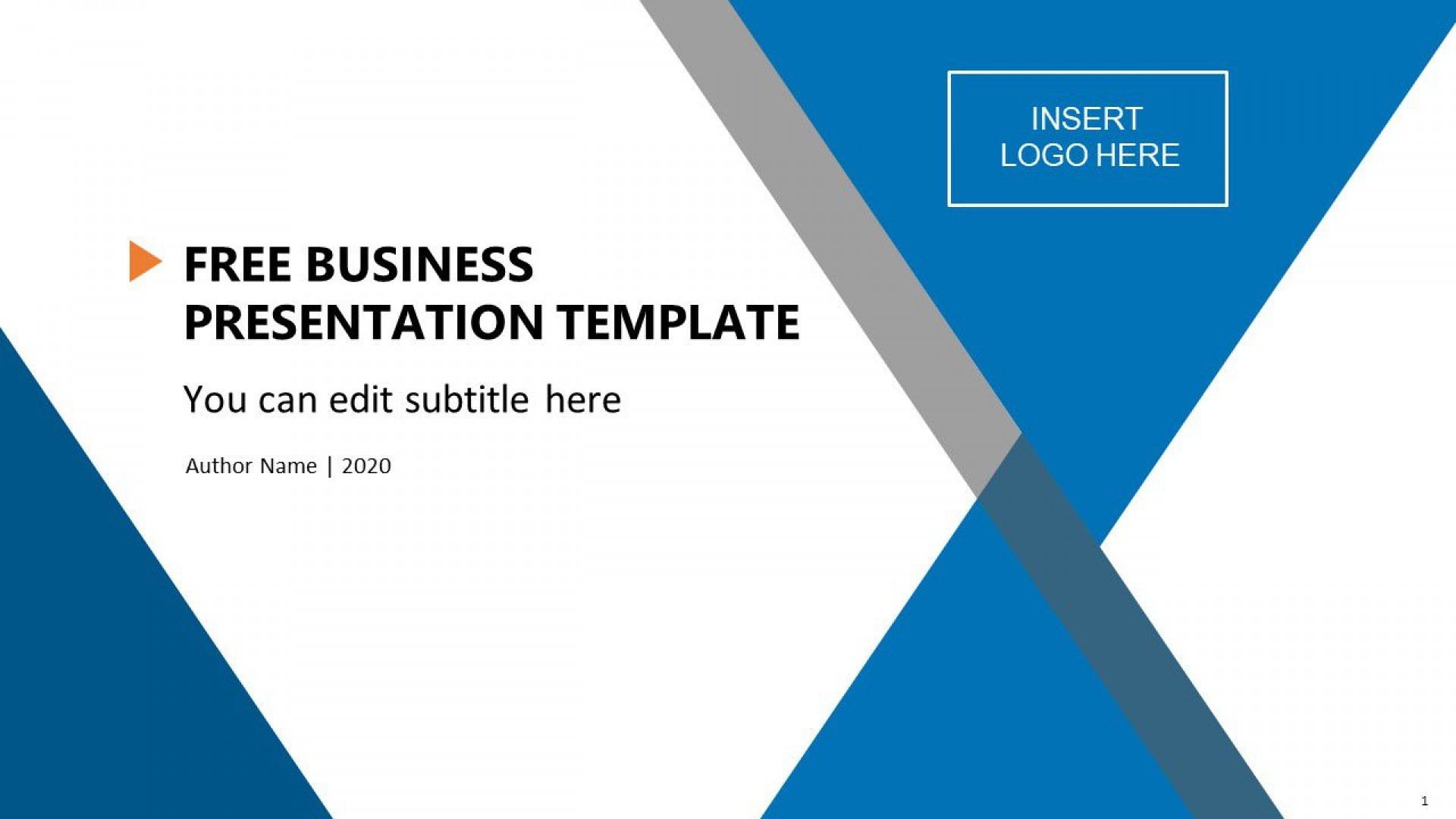 004 Unbelievable Ppt Busines Presentation Template Free Highest Clarity  Best For Download1920