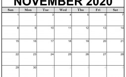 004 Unbelievable Printable Calendar Template November 2020 Idea  Free