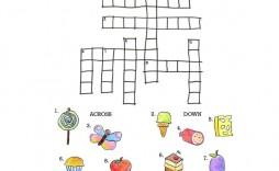 004 Unbelievable Printable Crossword Puzzle For Kid Concept  Kids