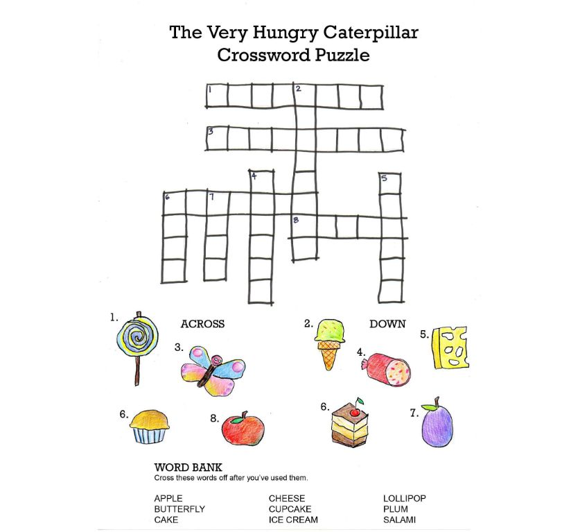 004 Unbelievable Printable Crossword Puzzle For Kid Concept Full