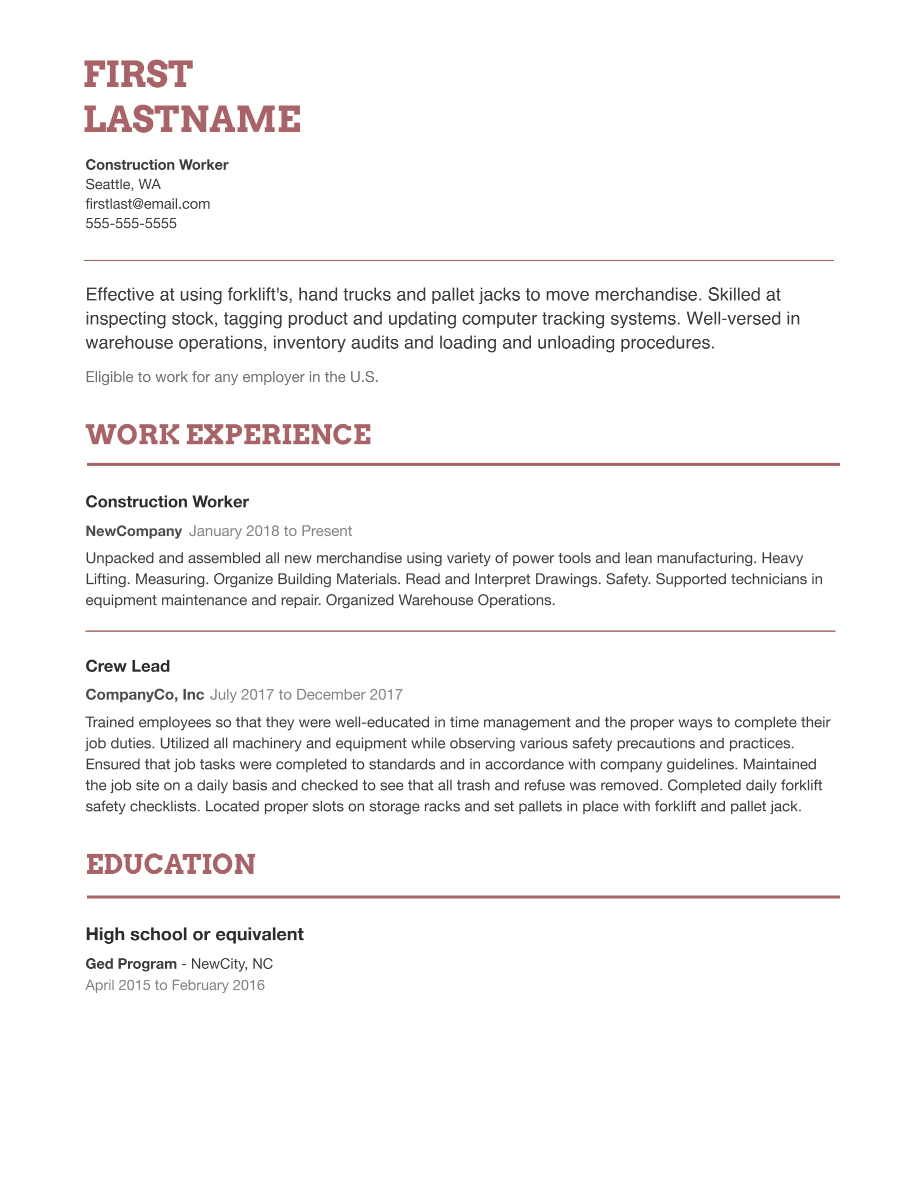 004 Unbelievable Simple Job Resume Template High Definition  Download FirstFull