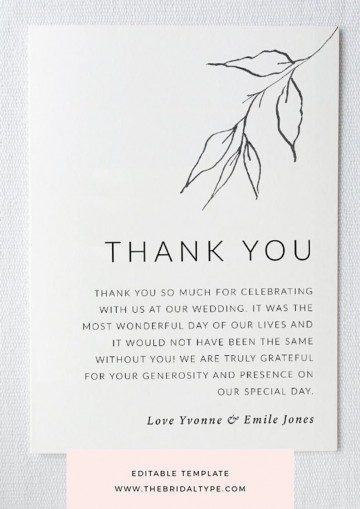 004 Unbelievable Wedding Thank You Card Template High Definition  Photoshop Word Etsy360