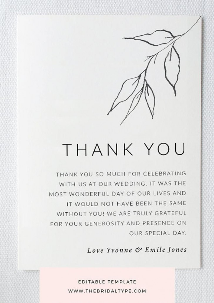 004 Unbelievable Wedding Thank You Card Template High Definition  Photoshop Word Etsy728
