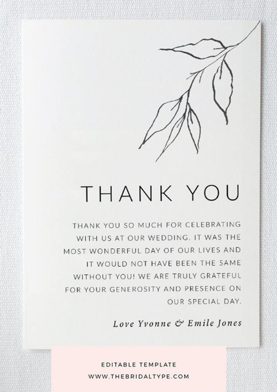 004 Unbelievable Wedding Thank You Card Template High Definition  Photoshop Word Etsy960