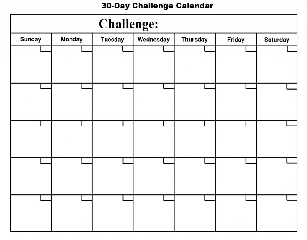 004 Unforgettable 30 Day Calendar Template Photo  Pdf Free BlankLarge