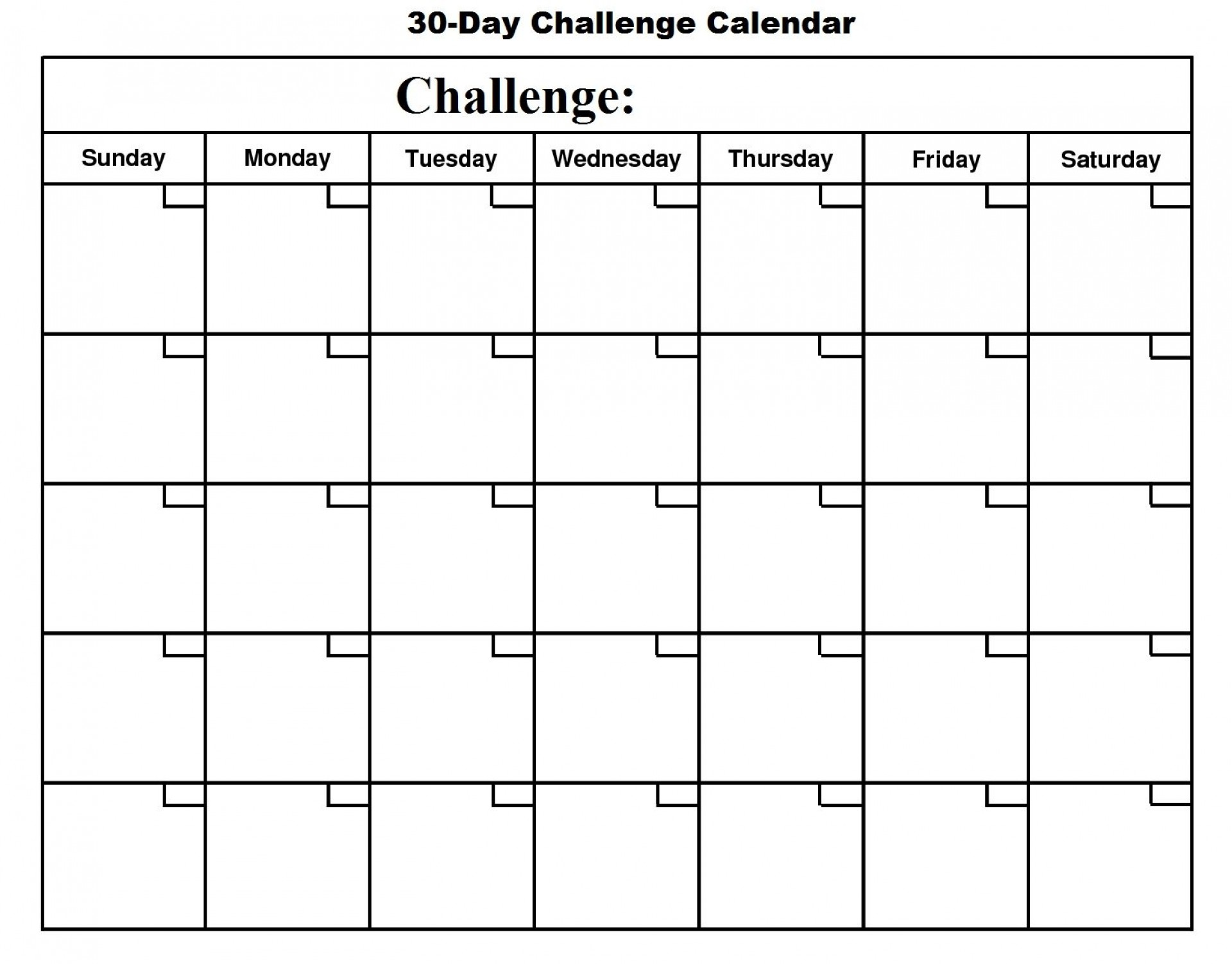004 Unforgettable 30 Day Calendar Template Photo  Pdf Free Blank1920