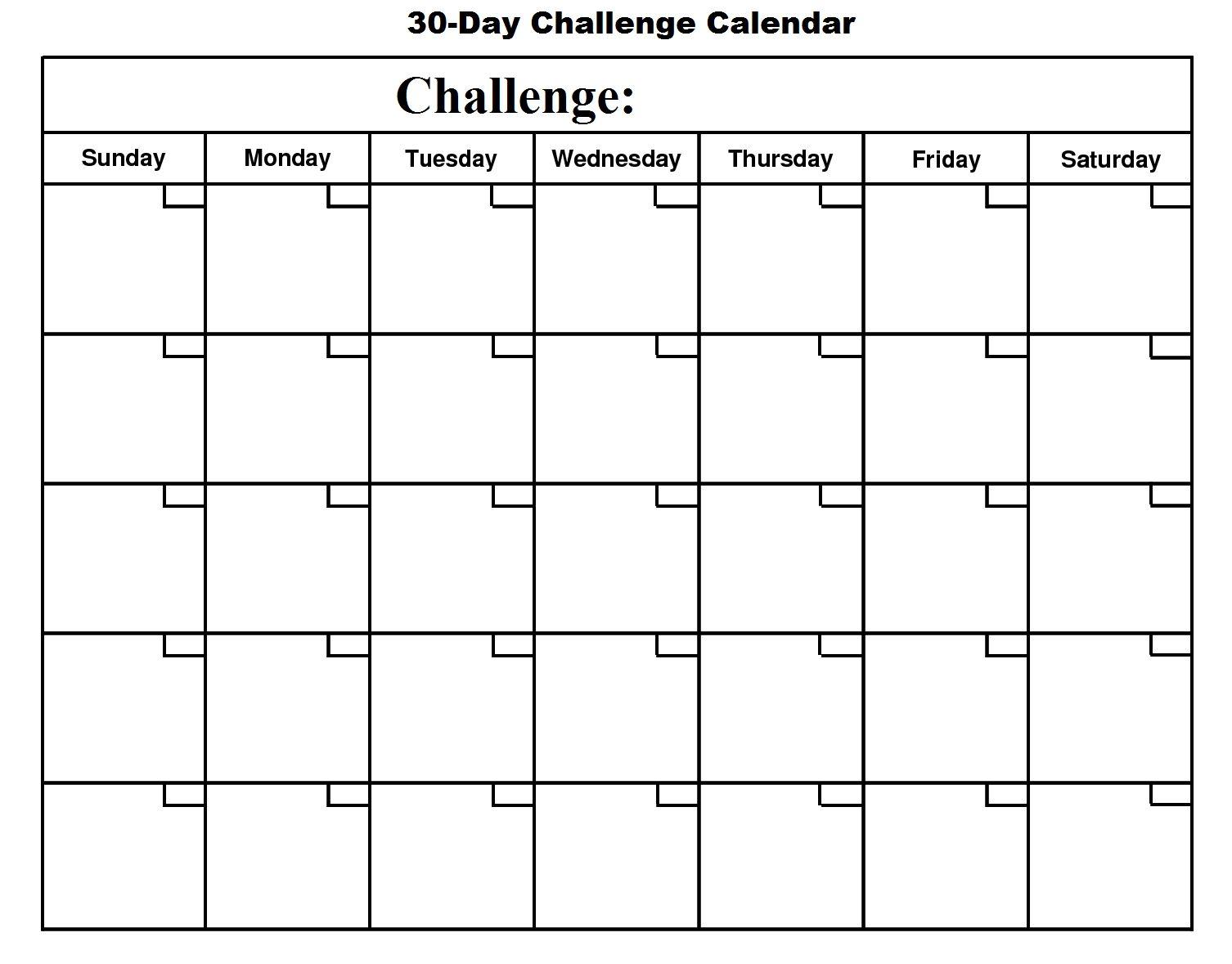 004 Unforgettable 30 Day Calendar Template Photo  Pdf Free BlankFull