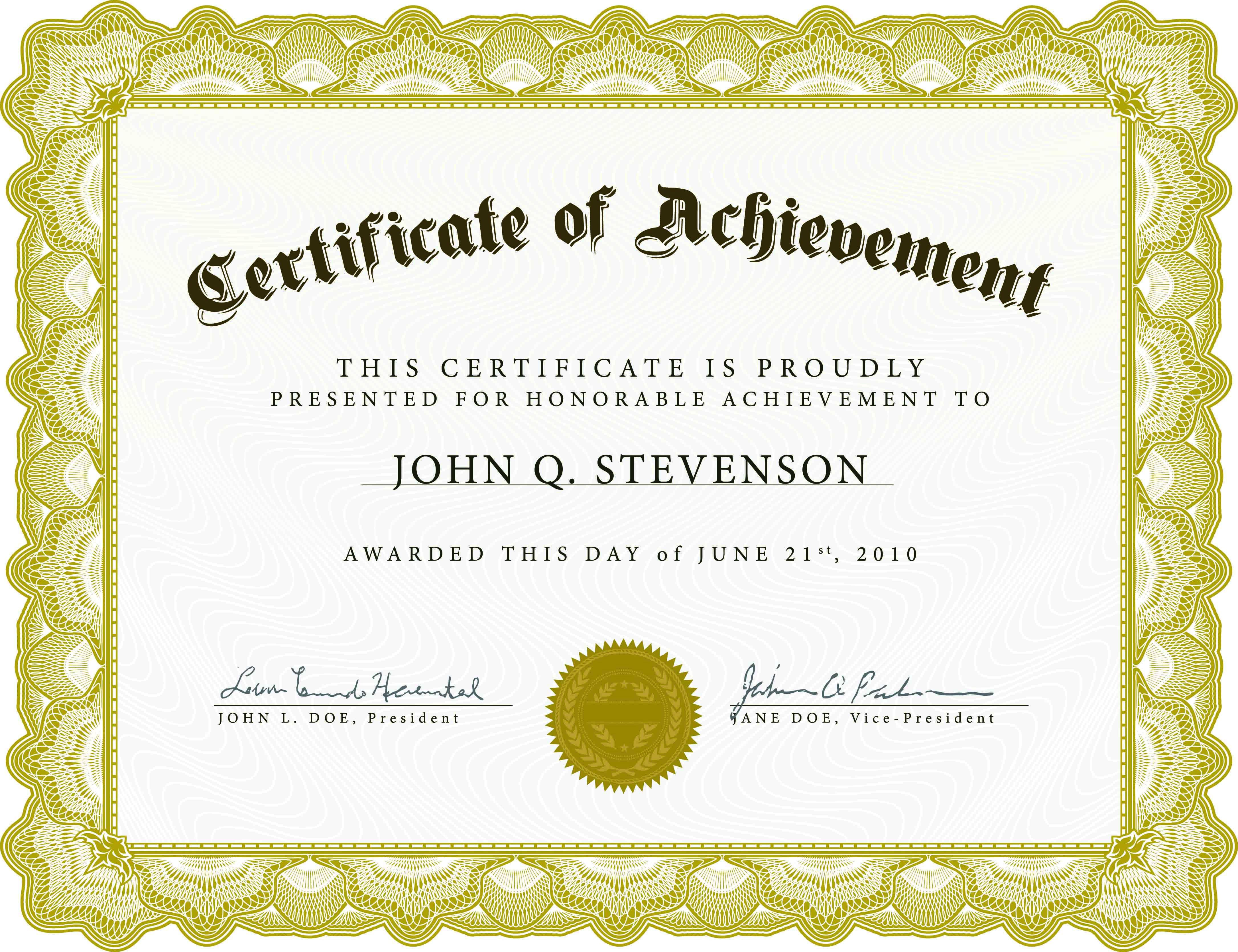 004 Unforgettable Award Certificate Template Word High Resolution  Doc Sample Wording ScholarshipFull