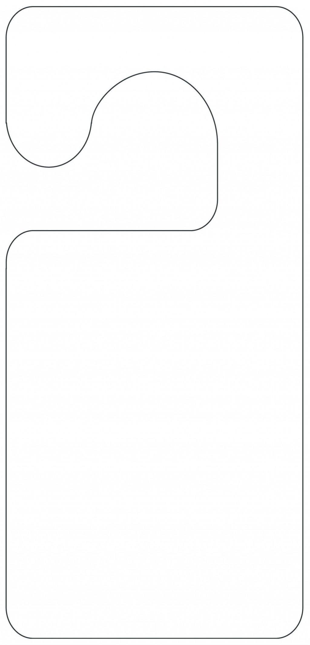 004 Unforgettable Blank Door Hanger Template Free Example Large