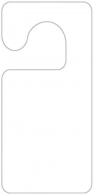004 Unforgettable Blank Door Hanger Template Free Example 320