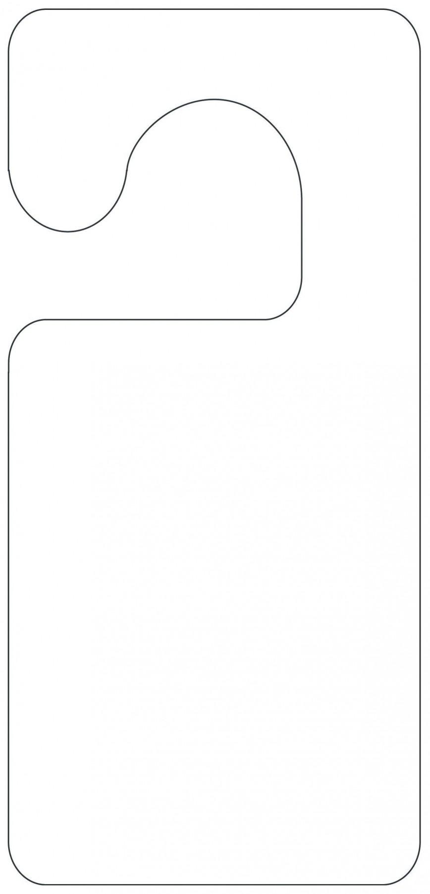 004 Unforgettable Blank Door Hanger Template Free Example 868