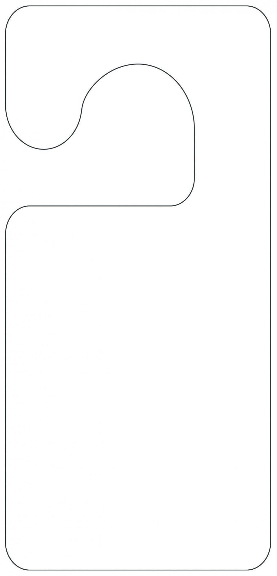 004 Unforgettable Blank Door Hanger Template Free Example 960