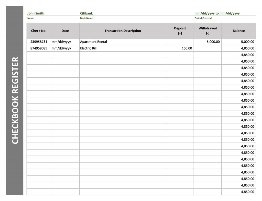 004 Unforgettable Check Register Template Printable Example  Pdf ExcelLarge