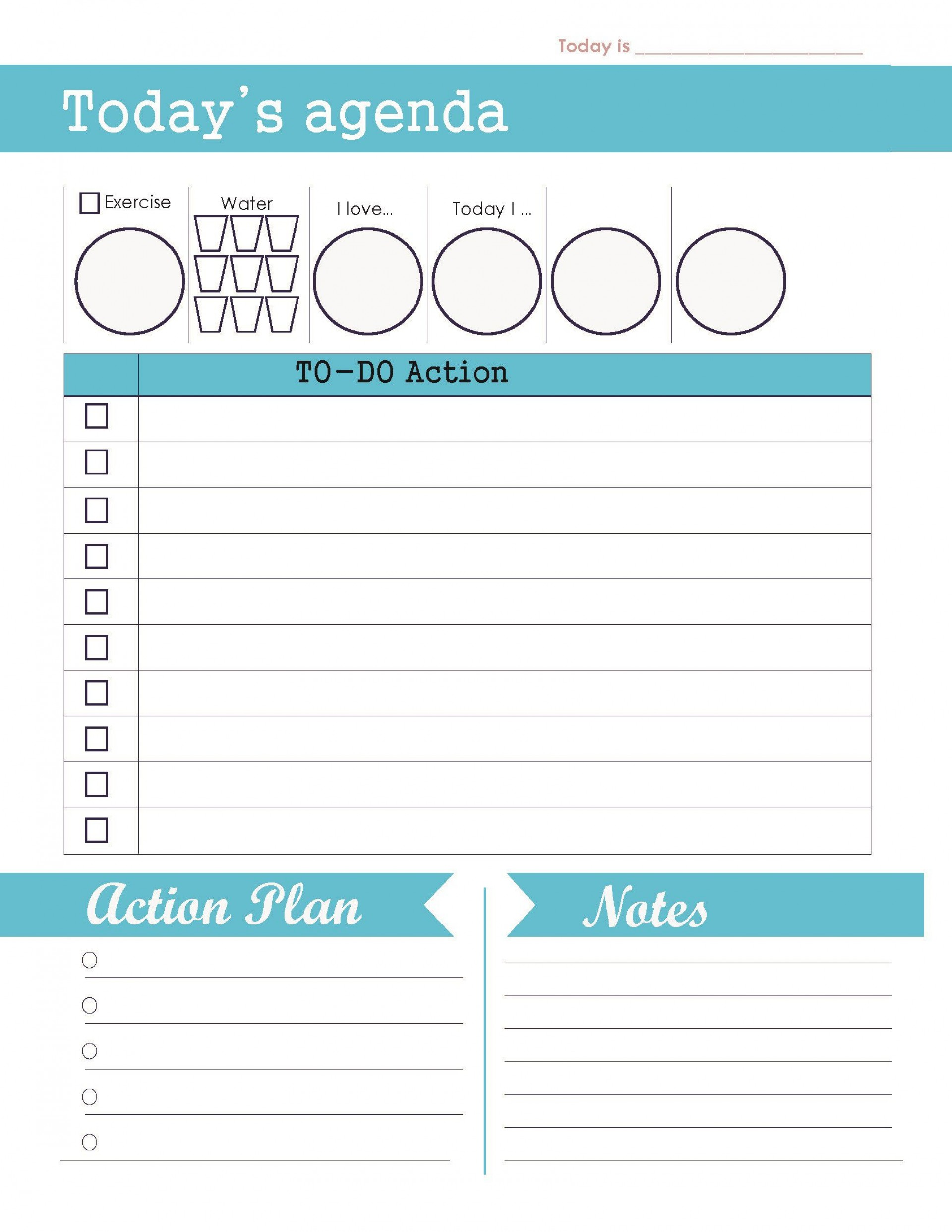 004 Unforgettable Daily To Do List Template Concept  Templates Free1920
