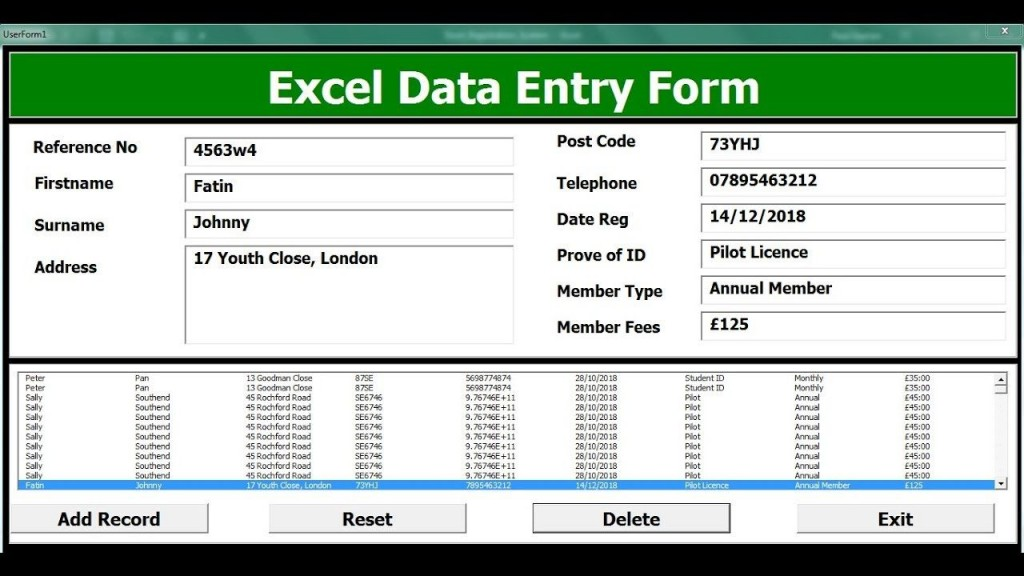 004 Unforgettable Excel Data Entry Form Template Sample  Example Download FreeLarge