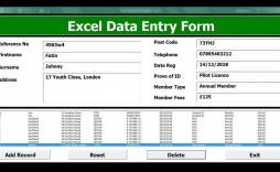 004 Unforgettable Excel Data Entry Form Template Sample  Example Download Free
