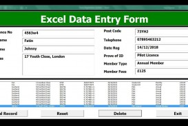 004 Unforgettable Excel Data Entry Form Template Sample  Free Download Example Pdf