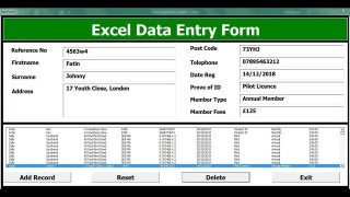 004 Unforgettable Excel Data Entry Form Template Sample  Free Download Example Pdf320