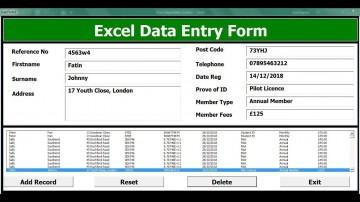 004 Unforgettable Excel Data Entry Form Template Sample  Free Download Example Pdf360