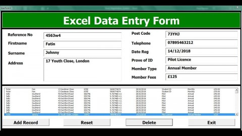 004 Unforgettable Excel Data Entry Form Template Sample  Free Download Example Pdf480