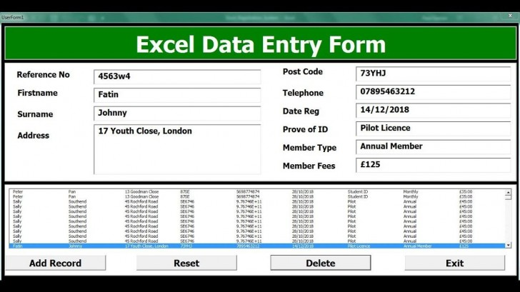 004 Unforgettable Excel Data Entry Form Template Sample  Free Download Example Pdf728