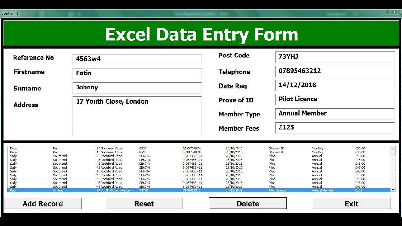 004 Unforgettable Excel Data Entry Form Template Sample  Example Download FreeFull