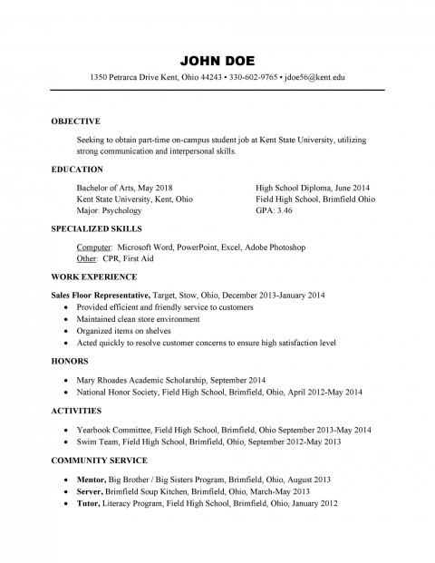 004 Unforgettable Free High School Resume Template Microsoft Word Def 480