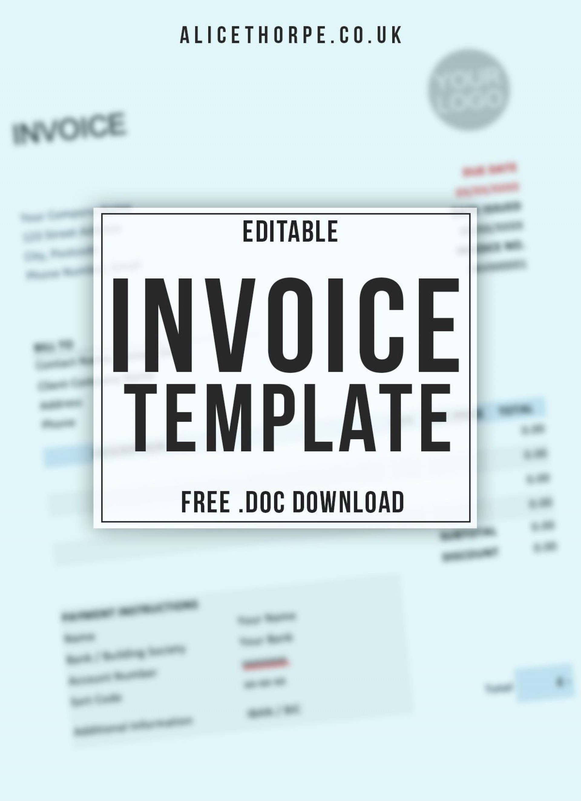 004 Unforgettable Invoice Template Uk Freelance Sample  Example Word1920