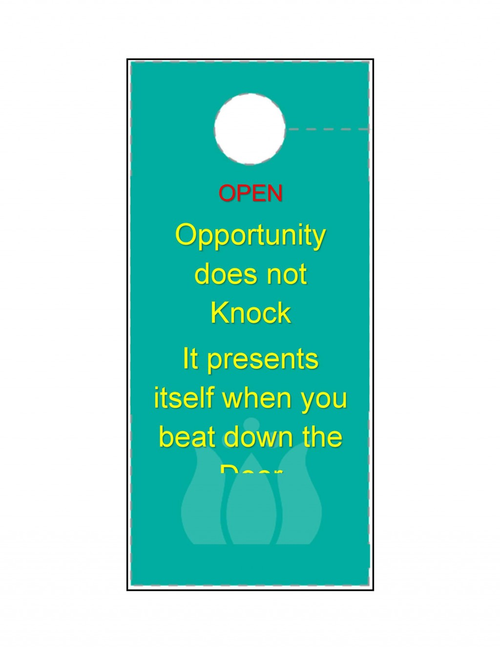 004 Unforgettable Microsoft Word Door Hanger Template Free Picture Large