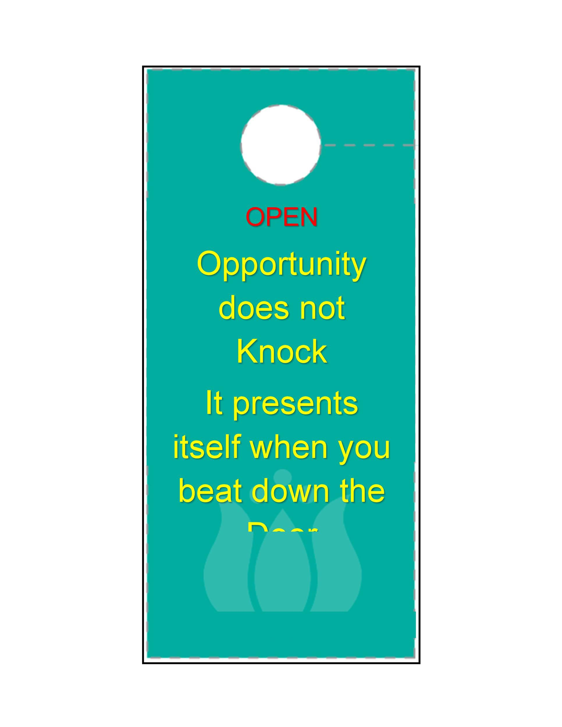 004 Unforgettable Microsoft Word Door Hanger Template Free Picture Full