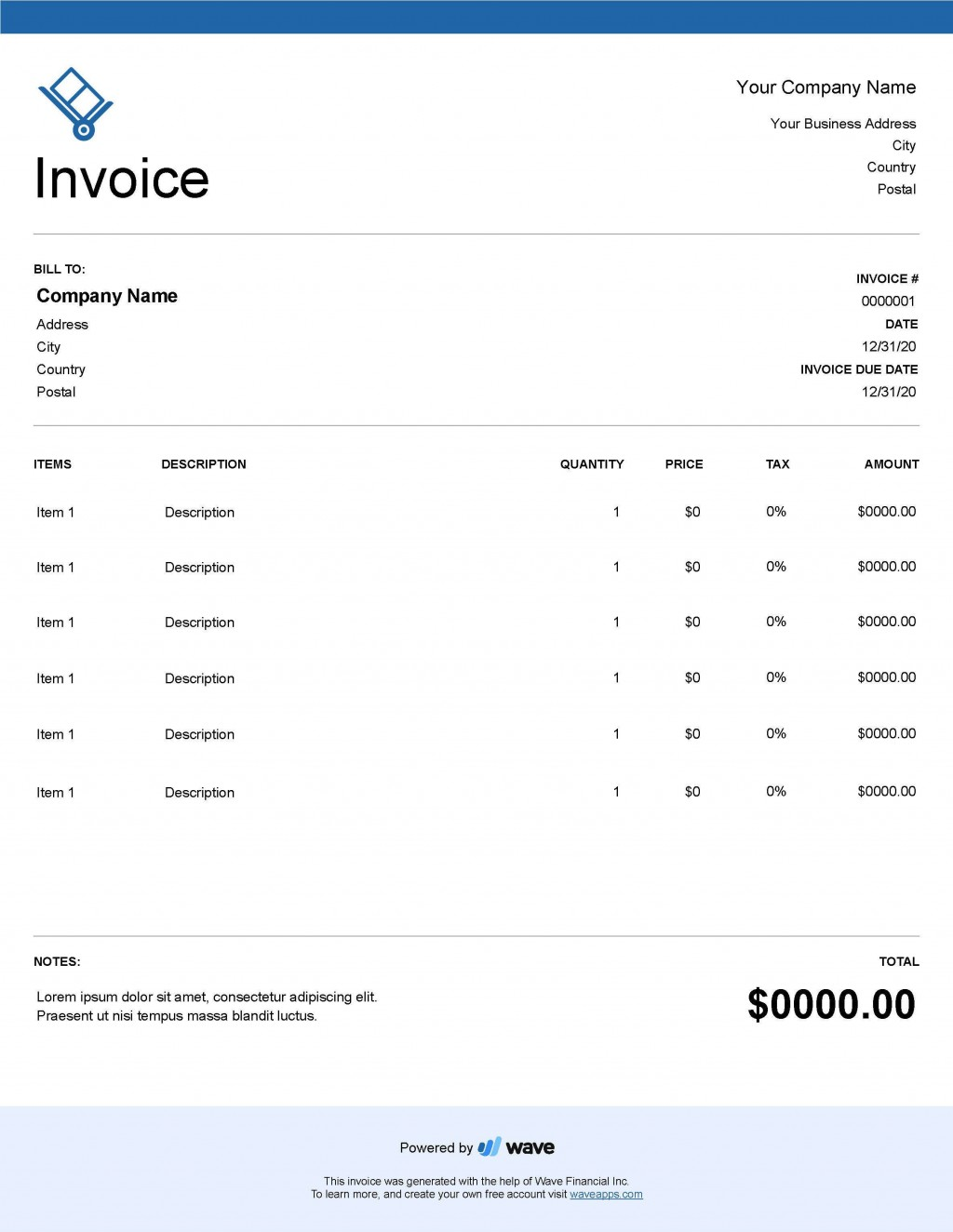 004 Unforgettable Service Invoice Template Free Concept  Rendered Word Auto DownloadLarge