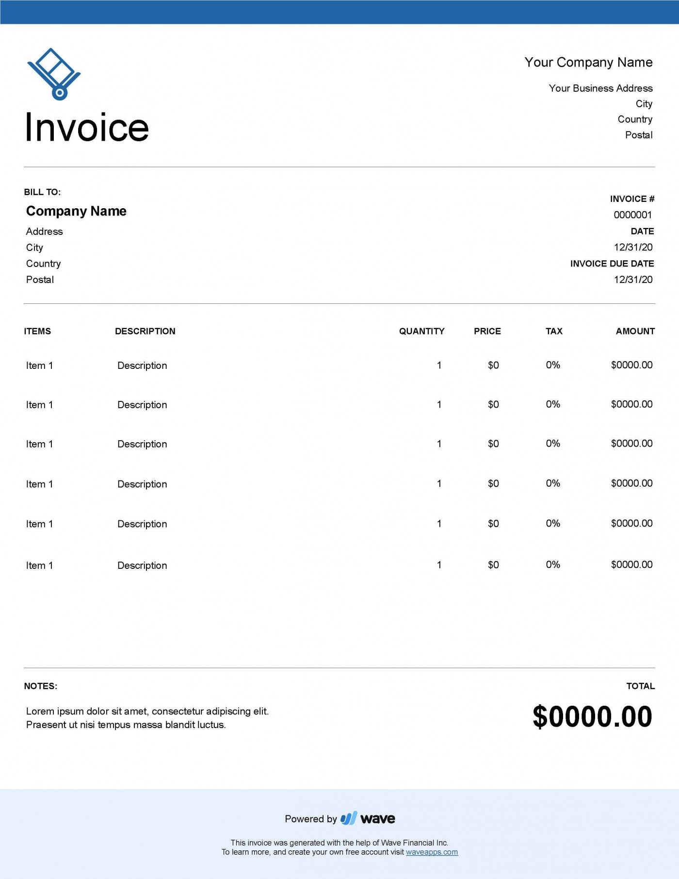 004 Unforgettable Service Invoice Template Free Concept  Rendered Word Auto Download1400