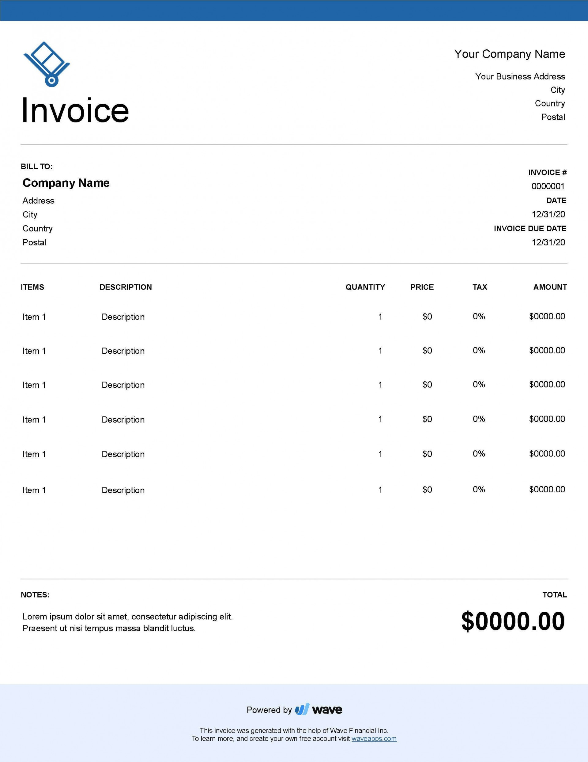 004 Unforgettable Service Invoice Template Free Concept  Rendered Word Auto Download1920