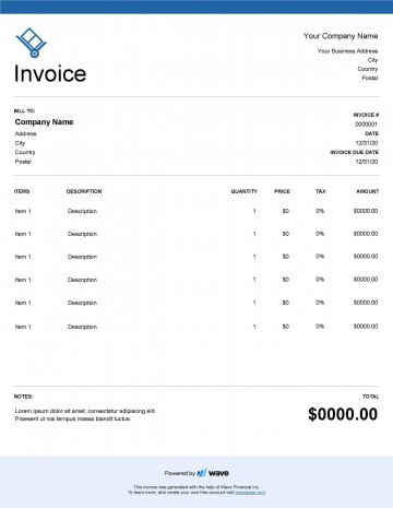 004 Unforgettable Service Invoice Template Free Concept  Rendered Word Auto Download360