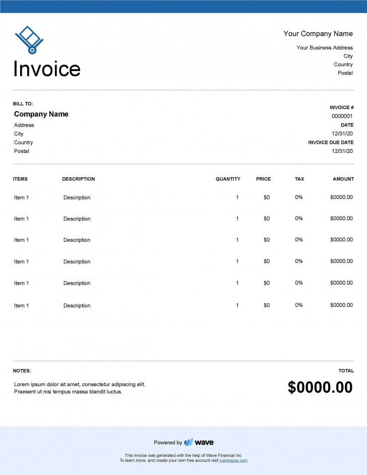 004 Unforgettable Service Invoice Template Free Concept  Rendered Word Auto Download728