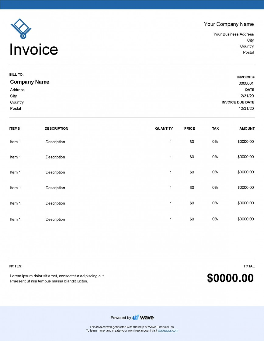 004 Unforgettable Service Invoice Template Free Concept  Rendered Word Auto Download868