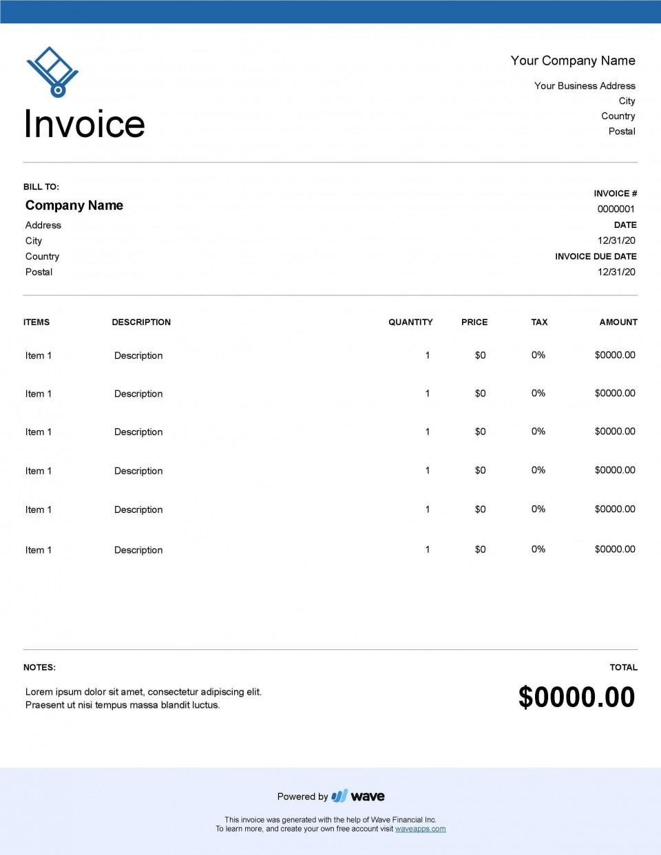 004 Unforgettable Service Invoice Template Free Concept  Rendered Word Auto Download960