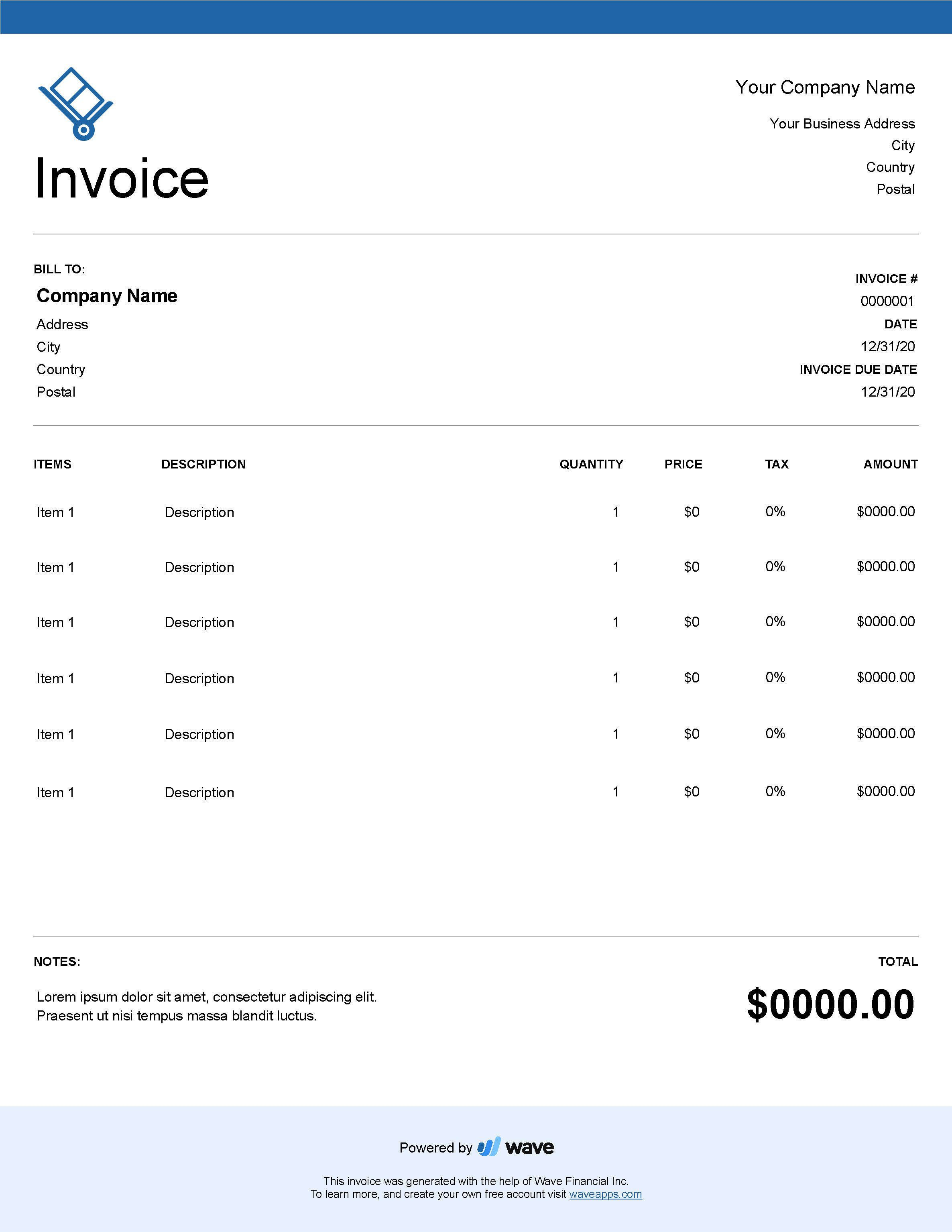 004 Unforgettable Service Invoice Template Free Concept  Rendered Word Auto DownloadFull