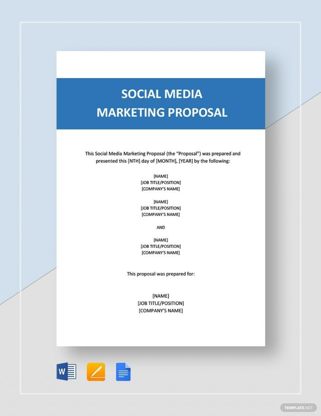 004 Unforgettable Social Media Marketing Proposal Template Word Design  PlanLarge