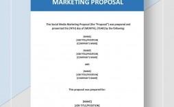 004 Unforgettable Social Media Marketing Proposal Template Word Design  Plan